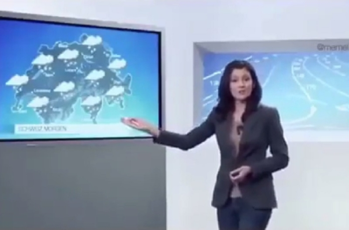 (ВИДЕО) Каков малер пред камери: Еве зошто сите се смеат на сметка на презентерката на временска!