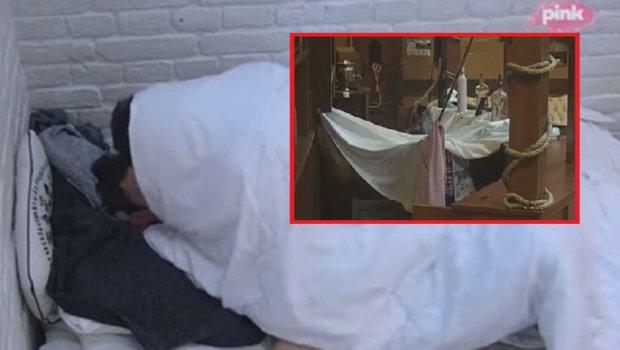 """Нова тура ноќна фискултура во """"Задруга"""": Мина јавајќи го Томо го """"скрши"""" креветот, а Марија Ана и Филип направија шатор, па се направија """"растур""""! (ФОТО+ВИДЕО)"""