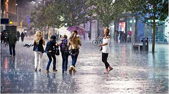 Времето до крајот на неделата: Повремен пороен дожд и грмежи