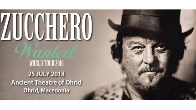 Охрид: Zucchero на 25-ту јули на Антички театар