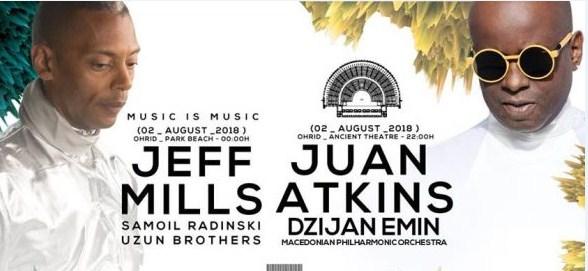Хуан Аткинс и Македонската филхармонија на 2 август во Антички во Охрид