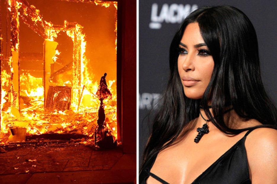 """Ким Кардашијан и семејството итно евакуирани поради пожар: """"Молете се за нас"""""""