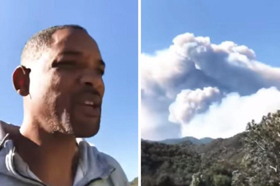 """Вил Смит заробен во калифорнискиот пекол:""""Ова е страшно, бегајте веднаш"""" (видео)"""