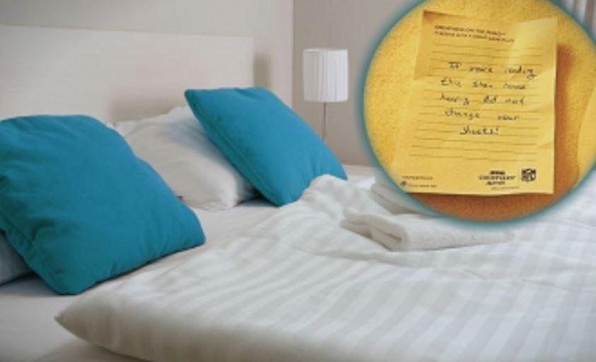 """Ја најде оваа порака во хотелската соба и непријатно се изненади: """"Ако го читате ова…"""""""