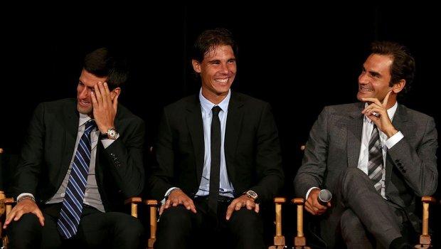 Вака ќе изгледаат за 50 години: Ѓоковиќ, Федерер и Надал на Вимблдон (ФОТО)