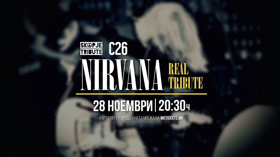 """""""Nirvana REAL Tribute""""  со концерт во """"Станица 26"""""""