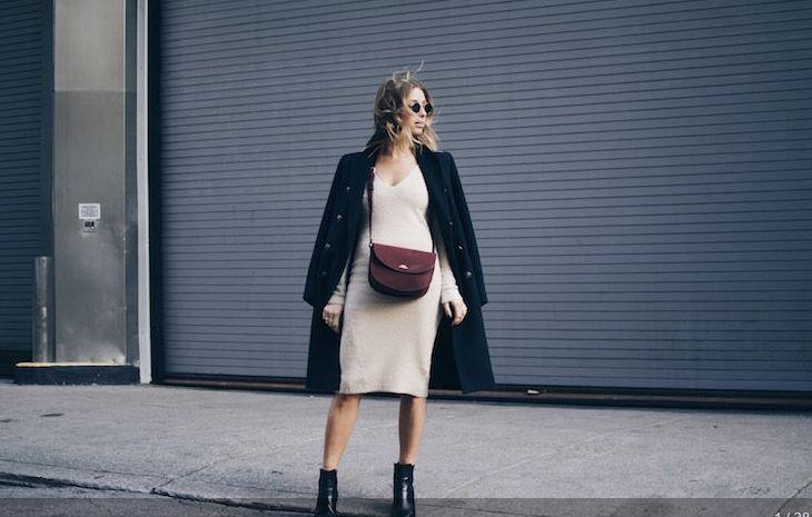 Како да комбинирате плетен фустан оваа зима?
