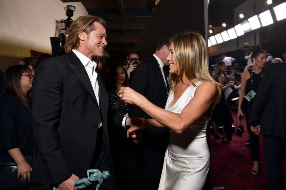 Џенифер Анистон и Бред Пит се сретнаа на забавата по доделувањето на Оскарите