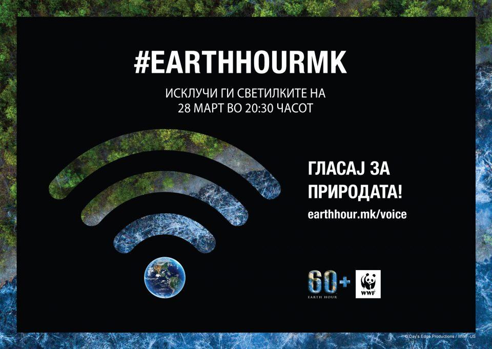 """Македонија по 11-ти пат се вклучува во акцијата """"Часот на планетата Земја"""""""