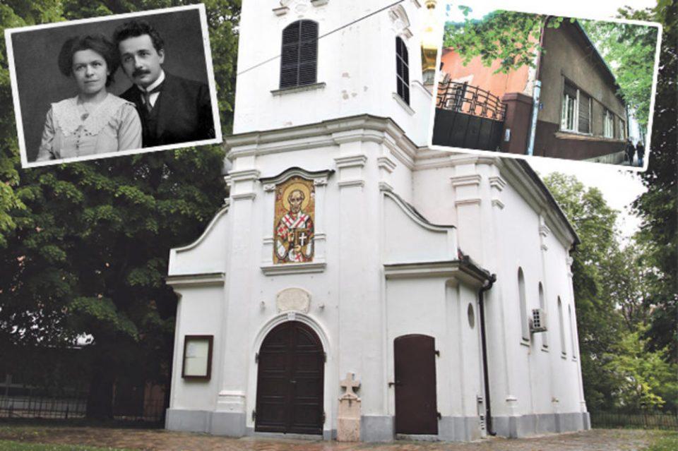Алберт Ајнштајн ги крстел децата во дворот на Саша Поповиќ