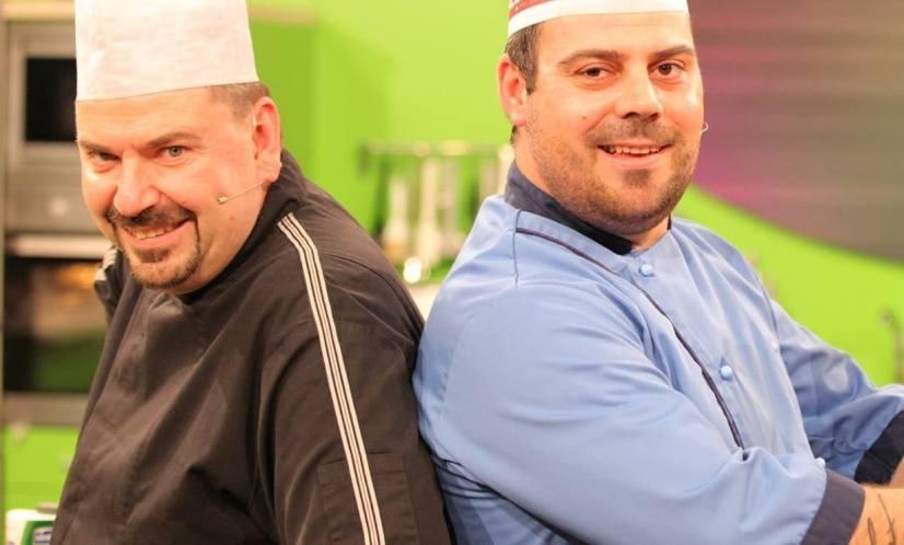 """Марк и Никола ги почнаа снимањата на """"Брза кујна"""", но со нова водителка (фото)"""