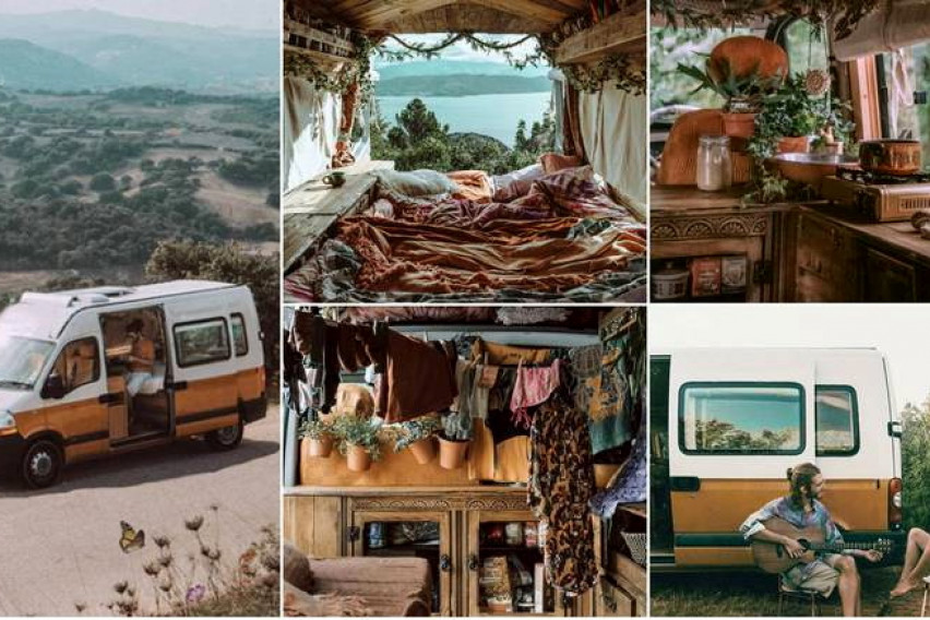 """Комбе претвориле во """"соба на тркала"""" и сега патуваат со стил низ светот"""