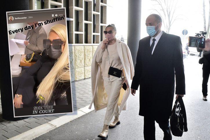 Kaрлеуша и Цеца по којзнае кој пат се сретнаа на суд, a eве како се однесуваа пред да започне судењето