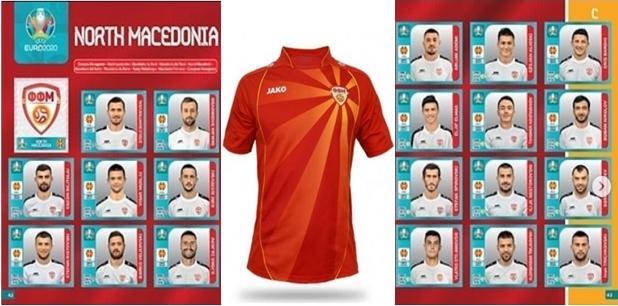 """Кој го """"избриша"""" сонцето што """"денес над Македонија се раѓа"""" од националниот дрес на македонските фудбалери во албумот на """"Панини""""? (ФОТО)"""
