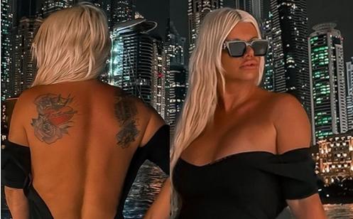 Две врежани имиња што најмногу и значат: Дара – Бубамара ги покажа двете тетоважи на грбот (ФОТО)