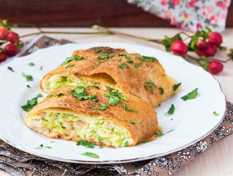 Рецепт за палачинки со тиквички, сирење и сланина