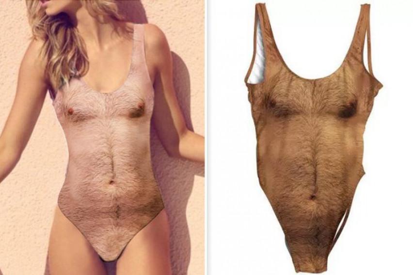 Женските костими за капење со машки торза се дефинитивно најлудиот тренд ова лето