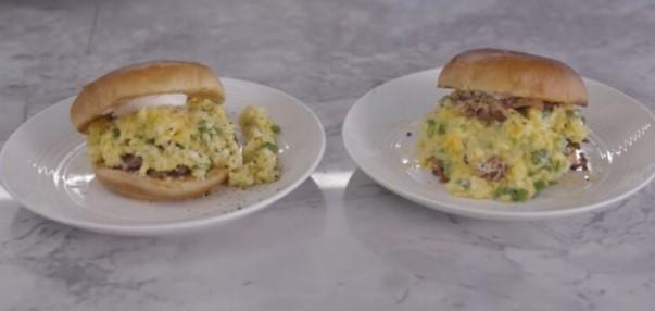 Сендвич со кајгана и сланина, вкусен појадок по рецепт на Гордон Ремзи