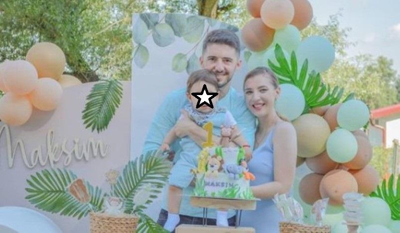 Елена и Гуте за првиот роденден на синчето направија прослава како детска бајка (фото)