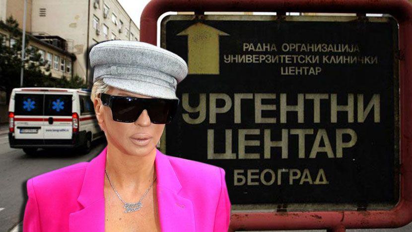 Јелена Карлеуша заврши во болница (фото)