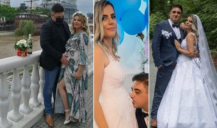 Маријан Стојаноски направи црковна венчавка: Невестата лани бремена пред матичар, годинава бремена пред олтар… овој пат со второ дете (ФОТО)