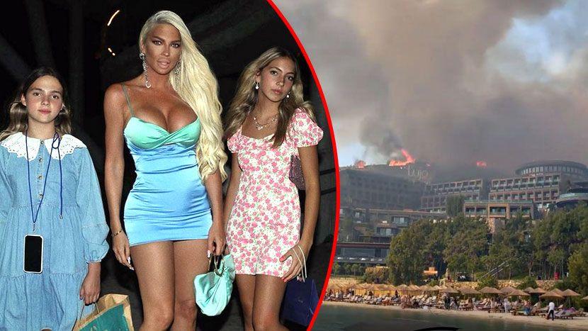 """Јелена Карлеуша и ќерките евакуирани поради силниот пожар во Турција: Пејачката се огласи на Инстаграм – """"Ова беше стресен и напорен ден"""" (видео)"""