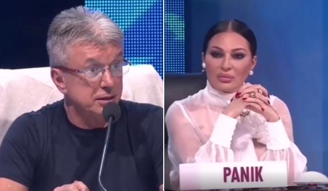 """Цеца жестоко му возврати на Саша Поповиќ во """"Ѕвездите на Гранд"""": """"Дојдов овде да оценувам, а не ти да ме малтретираш"""" (ФОТО)"""