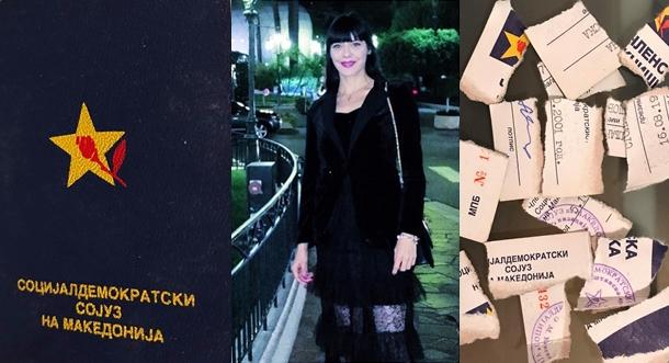 Македонската манекенка и модел Билјана Стоиловска која живее и работи во Белград, јавно ја искина членската книшка на СДСМ! (ФОТО)