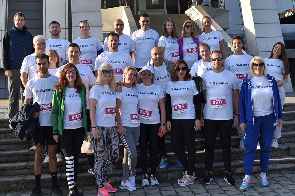 И тимот на фармацевтски гигант Галеника трчаше низ Скопје