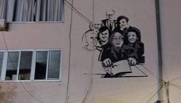 Кавадарци: Никола Бадев, Васил и Зафир Хаџиманови заедно со уште неколку уметници осамнаа на мурал